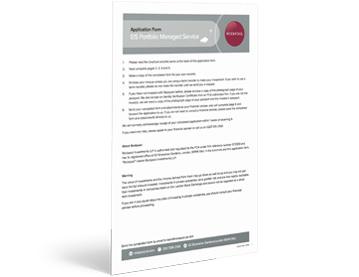 EIS Portfolio Service application form
